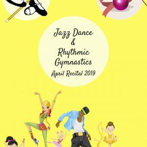 Πρόγραμμα παράστασης Jazz Dance & Rhythmic Gymnastics April 2019